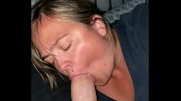 Candi blows and swallows in this steamy video