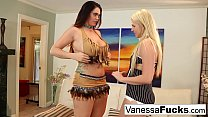 Alison & Vanessa Cage decide to fuck before a Halloween Party!