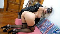 Amazing Babe Has Most Perfect Ass and Puffy Pussy Wearing G-String and Boots