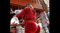 Chata culona  visto en mercado hacirndo compras