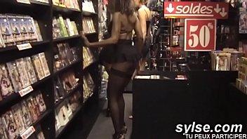 3 horny anal sluts at sexshop