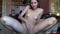 Brunette teases with her astonishing body on cam