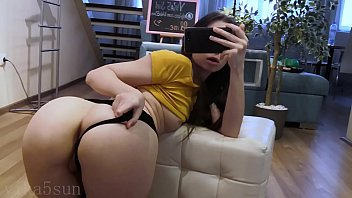 young Russian girl shows her holes before going for a walk