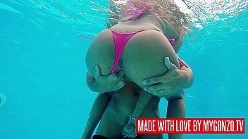 Watch Mugur fucking the gorgeous Big Boobs German MILF Lana Vegas outdoor at the pool