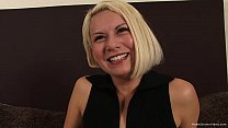 Ravishing blonde Latina gets pounded by two dicks