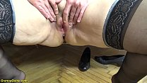 creampie with chubby ugly 79 years old mom