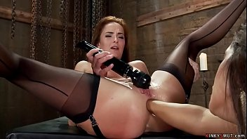 Hot ass lesbian fisted and banged