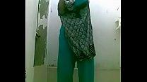 bottle bating indian wife in shower for a selfie 7 min