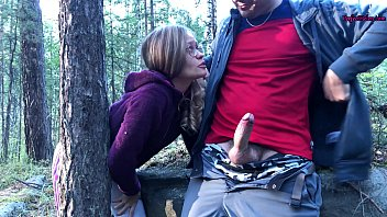 Sucked a Stranger in the Woods to Help Her - Public Sex 6 min