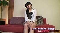 Japanese teen bent over for creampie