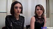 Marie et Sophie deux brunettes coquines partagent une bite