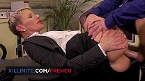 French mature anal fucked in the office 10 min