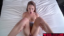 Stepsister lets her stepbro bangs her tight pussy in her bedroom