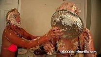 Pie Fight WAM Between Payton Hall and Fifi Foxx