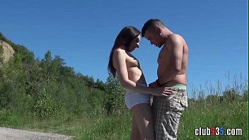 Teen rides cock on picnic gets her pussy creamed
