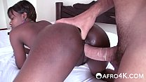 African Hottie Takes White Cock In Hotel Room