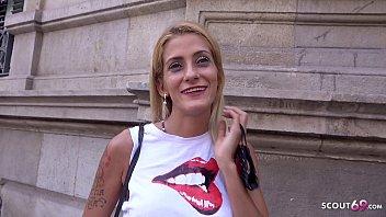 GERMAN SCOUT - SKINNY BLONDE LATINA GIRL GABRIELA PICKUP AND FUCK AT STREET CASTING