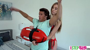 Lifeguard stepsister teen Haley Reed needed to practise on her stepbrother