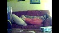 My mom home alone caught masturbating by hidden cam