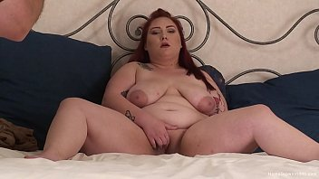 Redhead BBW Jasmine Leigh masturbates with her dildo