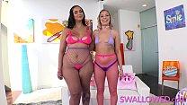 SWALLOWED BADKITTYYY and Lana Anal sharing a hard cock