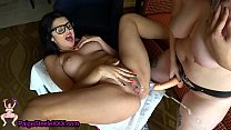 Strap On Makes Petite Teen Squirt!