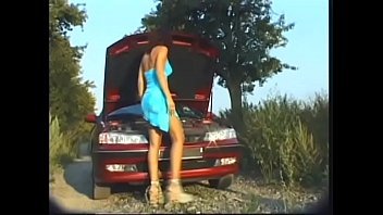 Good Samaritan decided to help young European hottie Angel Dark who found nothing better to do than to rent old French hoopdie