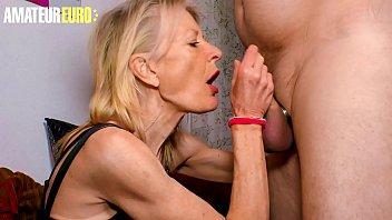 AMATEUR EURO - #Margit S. - Naughty German Granny Let Her Husband To Treat Her Like A Slut