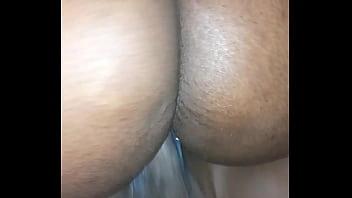 Sweet ebony with creamy pussy rides her boyfriend to s.