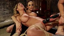 Busty MILF anal fucked threesome