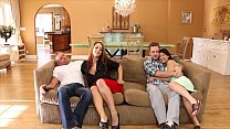Mommy Miss Raquel and her daughter gives blow job to the boyfriend threesome!!