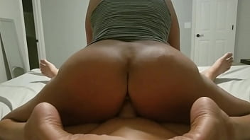 Big Ass MILF rides reverse cowgirl and cums all over his hard cock
