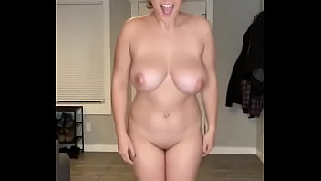 Busty whore playing with her sexy boobs