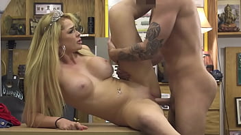 Skyla Novea Gets Her Amazing Ass Fucked In Back Of Pawn Shop