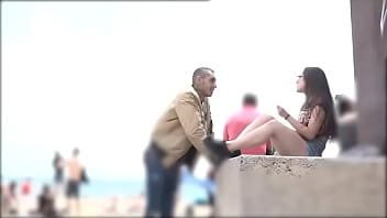 He proves he can pick any girl at the Barcelona beach
