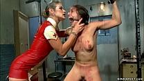 Nurse in latex anal fucks Red Riding