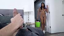 BANGBROS - Horny Maid Serena Santos Fucks For Extra Bucks