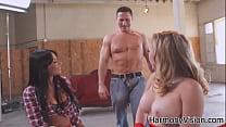 Hotties Anissa Kate and Kagney Lynn Karter taking fuck lessons