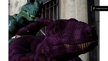 furry animation dinosaur sex wild jungle