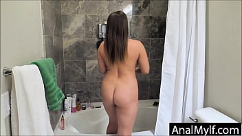 Stepson ambushes Mom and fucks her in the ass