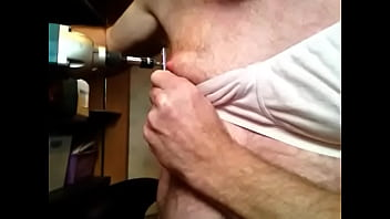 Screws being power driven into nipples