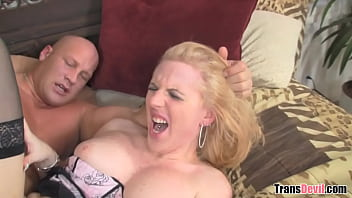 TS Juliette Stray Enjoys Painful Anal Sex With Big Cocked Client