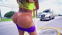 BANGBROS - Busty Latin MILF Julianna Vega Riding Big Cock Like A Pro On AssParade