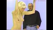 Tall Blondie Ingrid's naked whipping