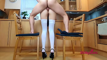 Hot Anal in the kitchen, standing fuck 14 min