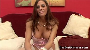 Nasty mature exwife plays with toy