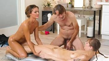 Threesome erotic massage