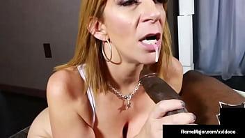 Busty PAWG Cougar Sara Jay Blows Big Dick Hung Stallion Rome Major!