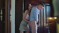 Natural Sybil fingers her husband 6 min
