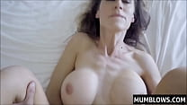 Son slips his prick into Moms tight pussy lips